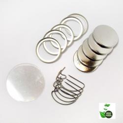 ECO Buttonrohlinge  25 mm  D-Pin
